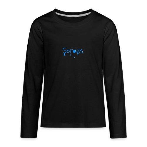 Sorous Montage - Långärmad premium T-shirt tonåring