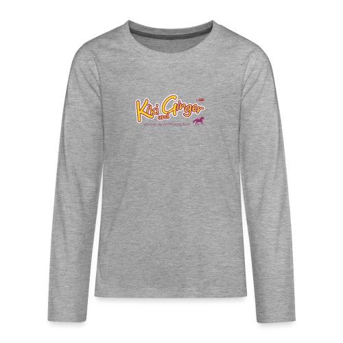 patame Kiki und Ginger Logo mit Pferd - Teenager Premium Langarmshirt