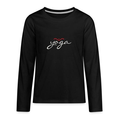 Yoga Balancing Typography And Emblem 2 - Teenager Premium Langarmshirt