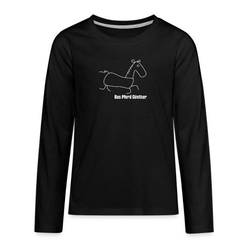 Das Pferd Günther - weiß - Teenager Premium Langarmshirt