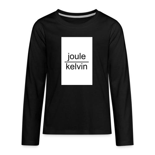 J/K unità di misura dell'ENTROPIA - Maglietta Premium a manica lunga per teenager
