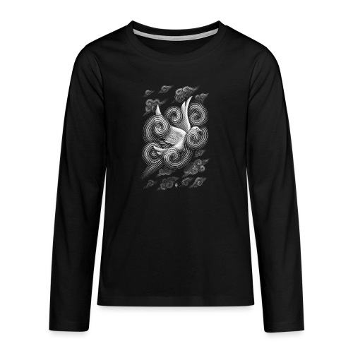Crossing Clouds - Teenagers' Premium Longsleeve Shirt