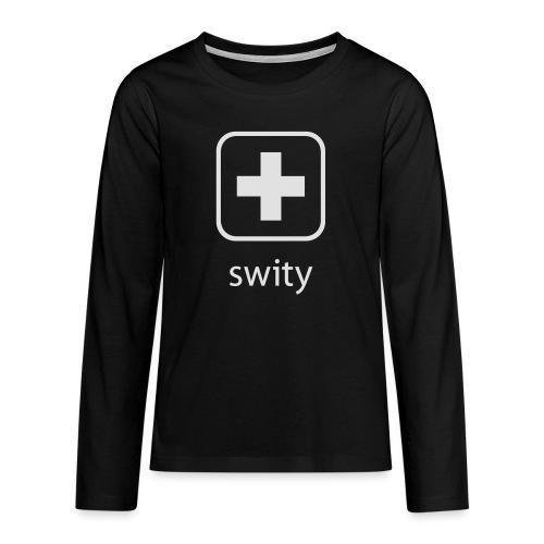 Schweizerkreuz-Kappe (swity) - Teenager Premium Langarmshirt