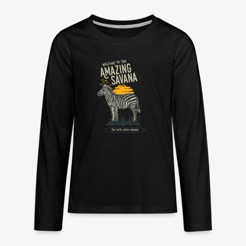 Zèbre - T-shirt manches longues Premium Ado
