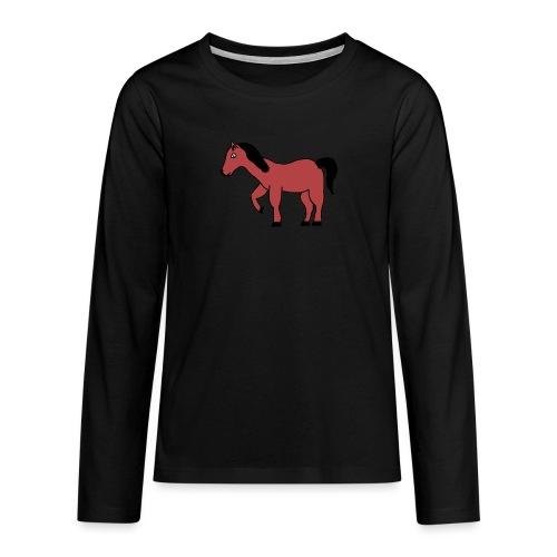 pferd Pony Reiten - Teenager Premium Langarmshirt