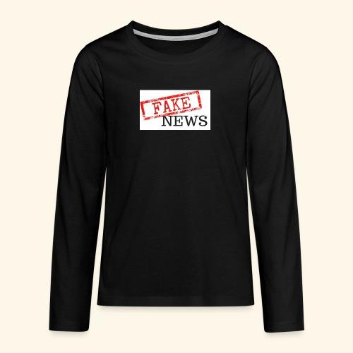 fake news - Teenagers' Premium Longsleeve Shirt