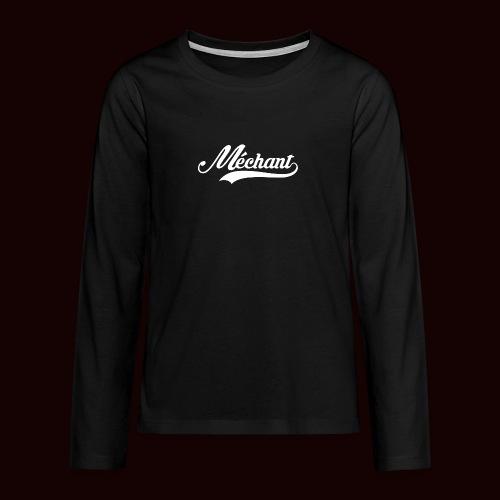 mechant_logo_white - T-shirt manches longues Premium Ado