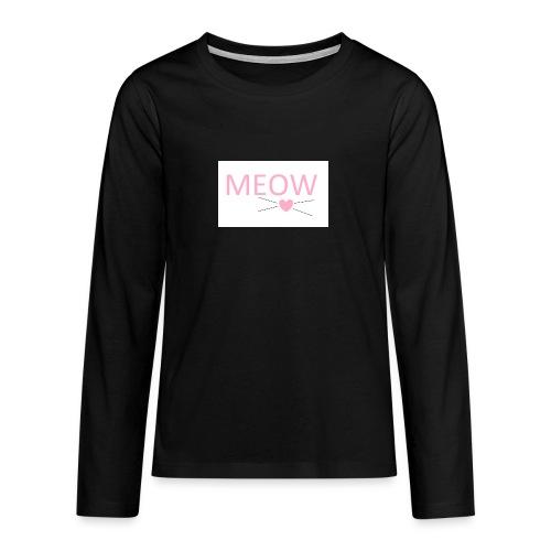 MEOW - Koszulka Premium z długim rękawem dla nastolatków
