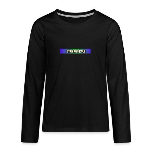 Shirt Logo - Teenagers' Premium Longsleeve Shirt