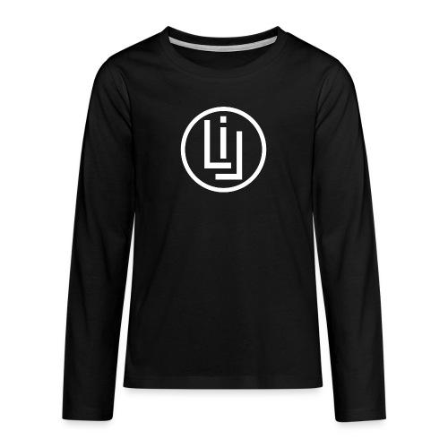 logoweiss png - Teenager Premium Langarmshirt