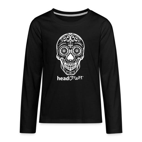 Skull & Logo white - Teenager Premium Langarmshirt