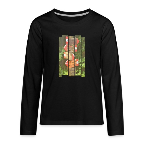 De verwarde hike - Teenager Premium shirt met lange mouwen