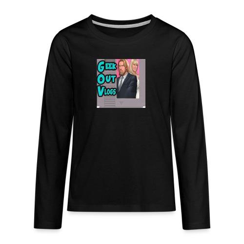 GeekOut Vlogs NES logo - Teenagers' Premium Longsleeve Shirt