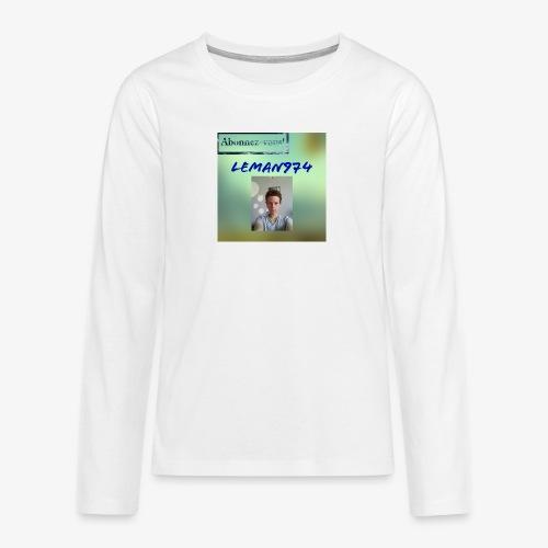 Leman974 logo - T-shirt manches longues Premium Ado
