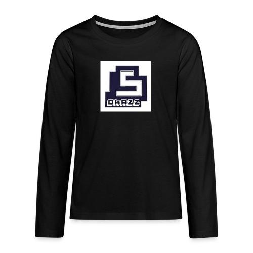 SOKAZZ LOGO - Premium langermet T-skjorte for tenåringer