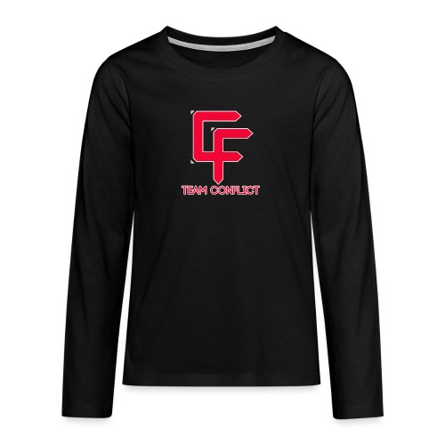 CF Final White Border t shirts with text - Teenagers' Premium Longsleeve Shirt
