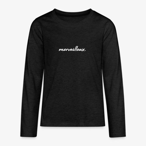 merveilleux. White - Teenagers' Premium Longsleeve Shirt
