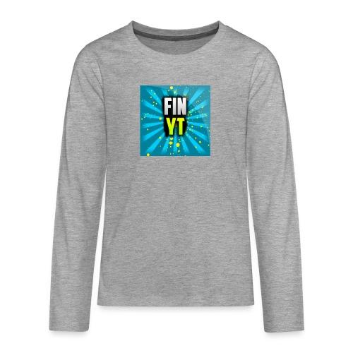 Uusi Youtube Logo - Teinien premium pitkähihainen t-paita
