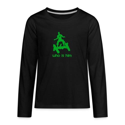 Who is that green man - T-shirt manches longues Premium Ado