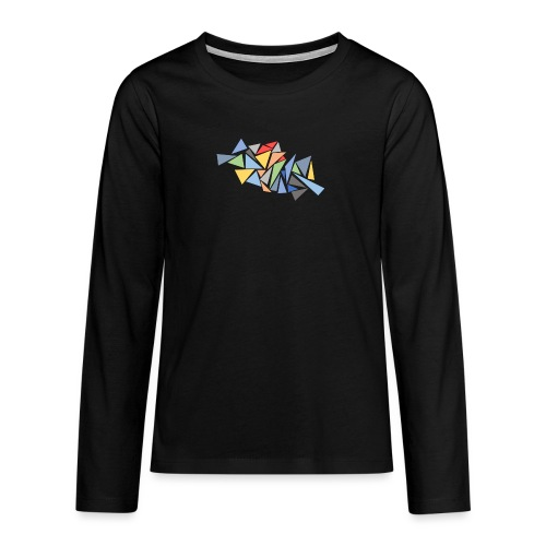 Modern Triangles - Teenagers' Premium Longsleeve Shirt