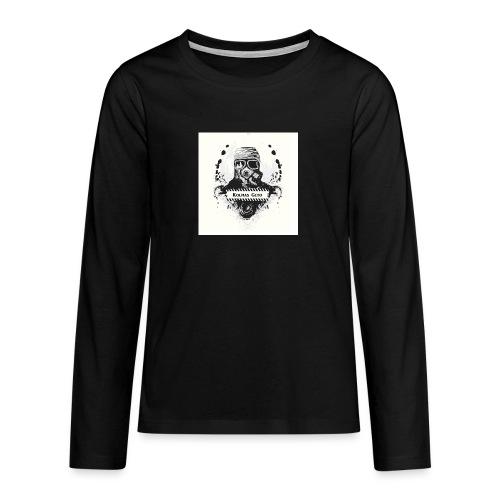 KOLMAS GETO LOGO VALMIS ISO RESOLUUTIO - Teinien premium pitkähihainen t-paita