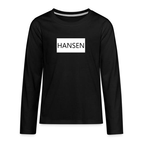 HANSENLOGO hvid - Teenager premium T-shirt med lange ærmer