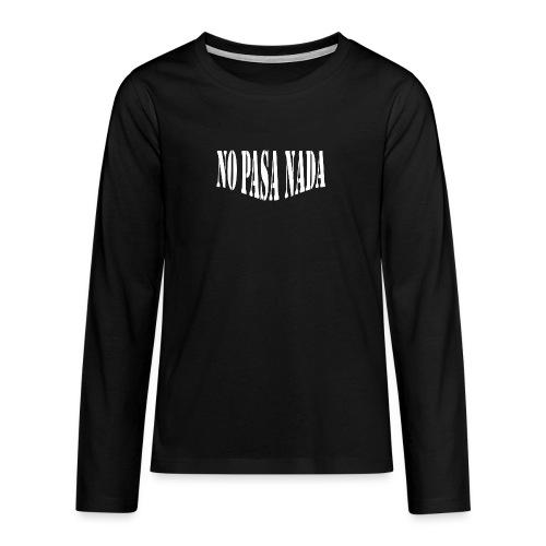 scritta per maglione png BIANCO - Maglietta Premium a manica lunga per teenager