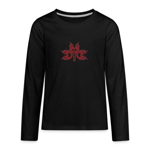 Cross with flaming hearts 01 - Teenagers' Premium Longsleeve Shirt