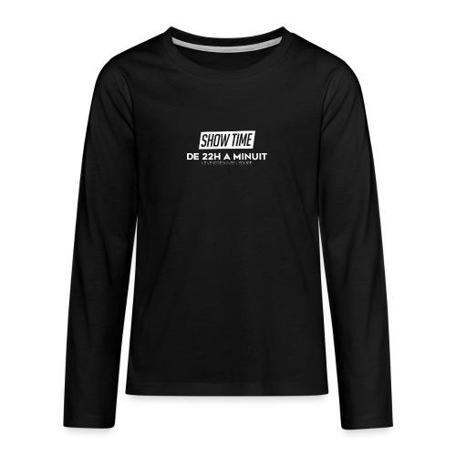 Logo ShowTime Blanc - T-shirt manches longues Premium Ado
