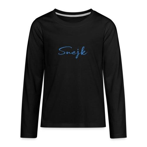 Snejk - Långärmad premium T-shirt tonåring