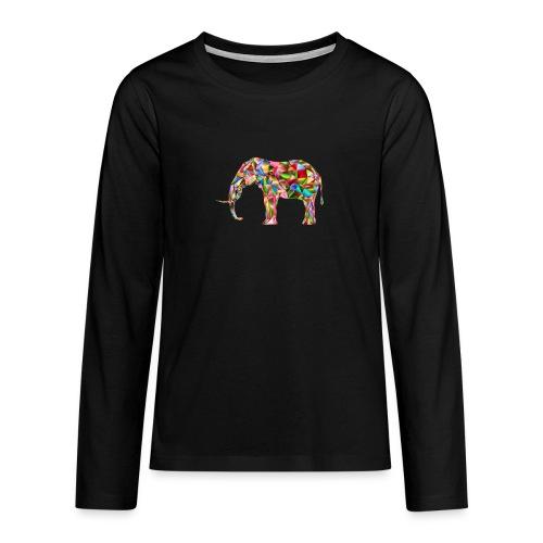 Gestandener Elefant - Teenager Premium Langarmshirt