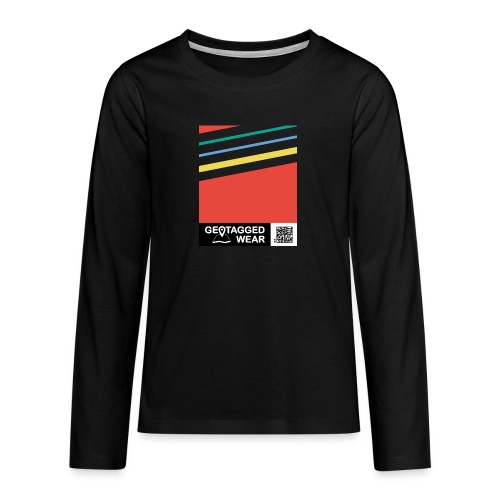 Unisex Stripes Pantone Colored - Teenager Premium Langarmshirt