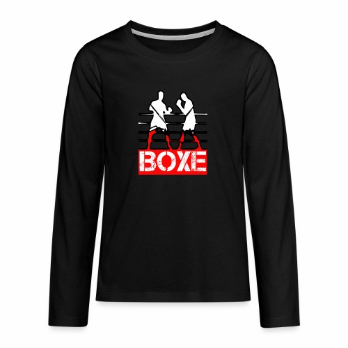 BOXE - Maglietta Premium a manica lunga per teenager