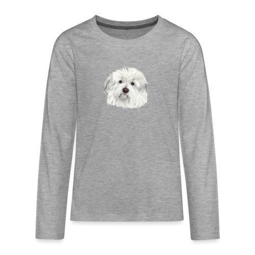 coton-de-tulear - Teenager premium T-shirt med lange ærmer