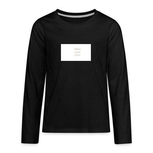 fresh wie ne cola - Teenager Premium Langarmshirt