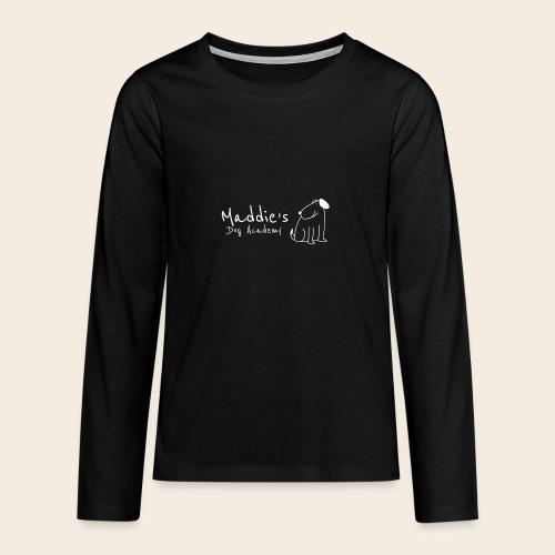 Académie des chiens de Maddie (blanc) - T-shirt manches longues Premium Ado
