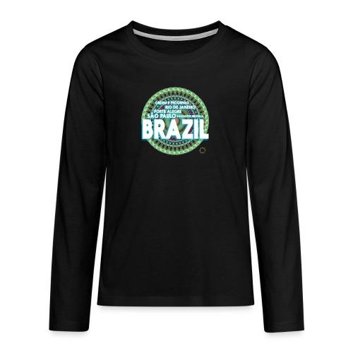 Lemon Brazil Mandala - T-shirt manches longues Premium Ado