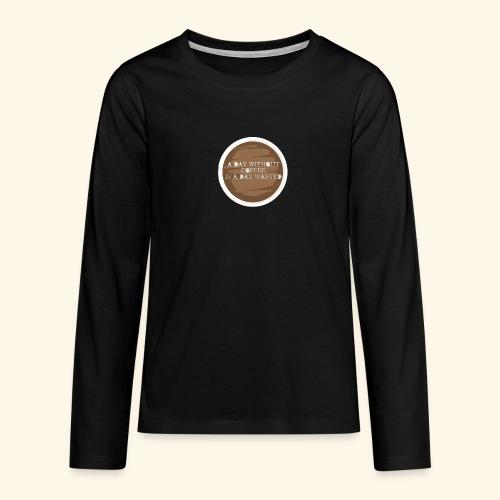 coffee - Långärmad premium T-shirt tonåring