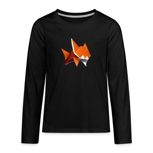 Jumping Cat Origami - Cat - Gato - Katze - Gatto - Teenagers' Premium Longsleeve Shirt