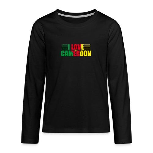 love cameroun - T-shirt manches longues Premium Ado