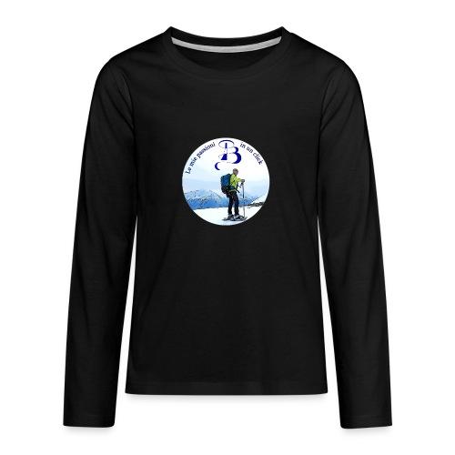 Logo cartone ciaspole - Maglietta Premium a manica lunga per teenager