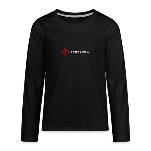SportsNow-Logo mit weisser Schrift - Teenager Premium Langarmshirt