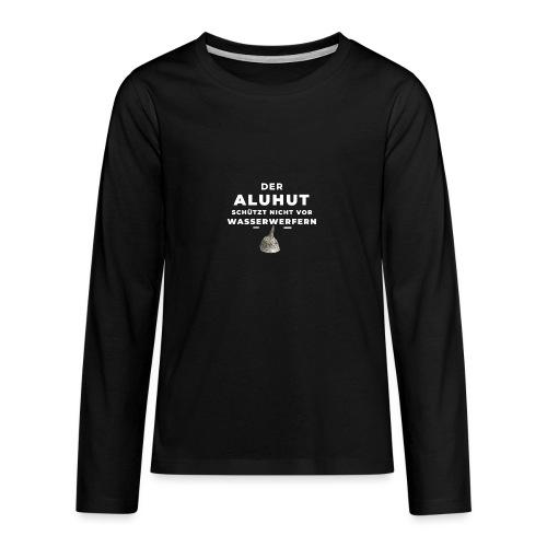 Aluhut und Wasserwerfer - Teenager Premium Langarmshirt