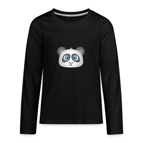 panda head / cabeza de panda 2 - Camiseta de manga larga premium adolescente
