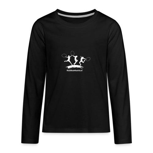 Hula Hoop Jumping Shadow White - Teenager Premium Langarmshirt