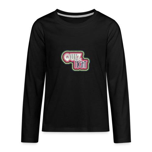 quiz - Teenager Premium Langarmshirt