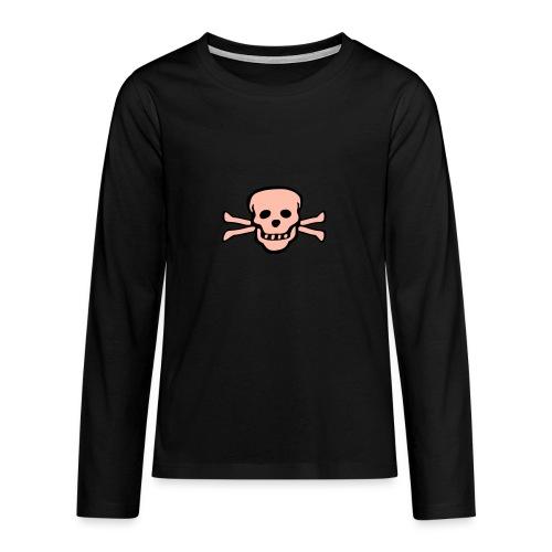 skull tattoo style - Teenager Premium Langarmshirt