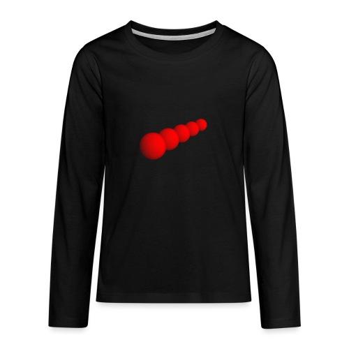 Rote Kugeln - Teenager Premium Langarmshirt