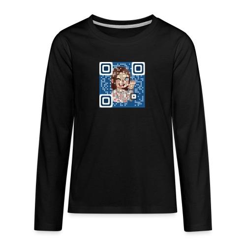 nattieQR - Teenager premium T-shirt med lange ærmer