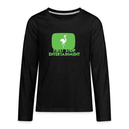 Box Logo png - Premium langermet T-skjorte for tenåringer